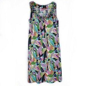 Boden Floral Print Ruffle Collar Jersey Dress 4